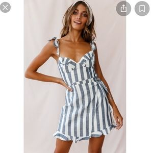 NWT blue and white striped dress